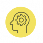 Values-based brain icon showing decision making confidence